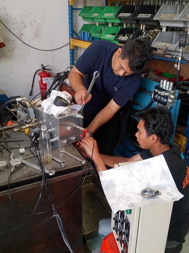 Quality Checking of Hydraulic Manifold Valve